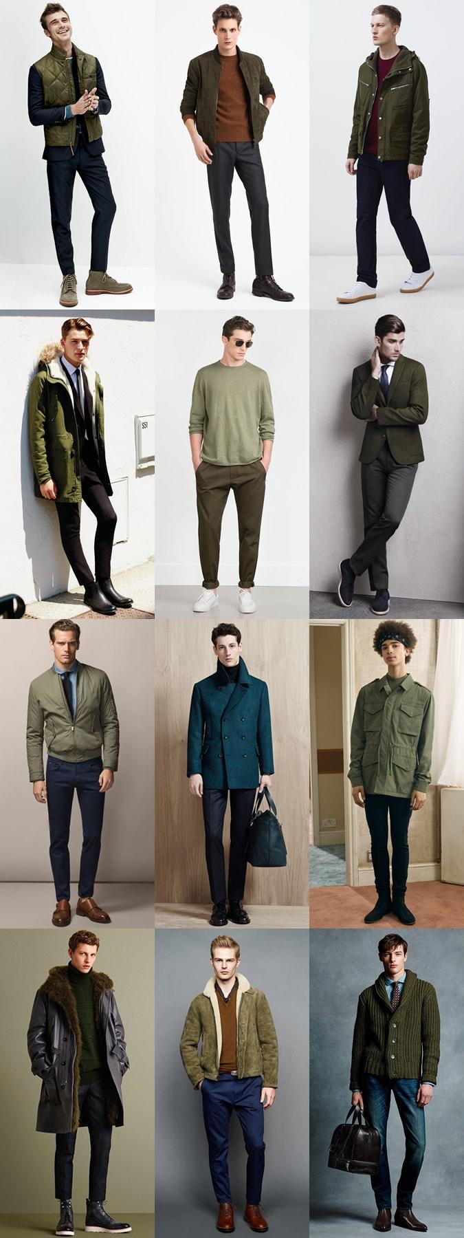 Зеленый и болотный цвета - лучший выбор сезона осень-зима 2015-2016 года