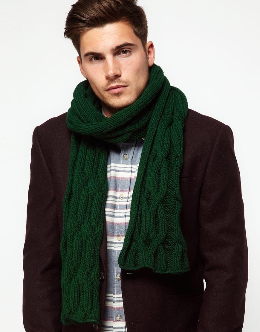Мужской шарф из шерсти