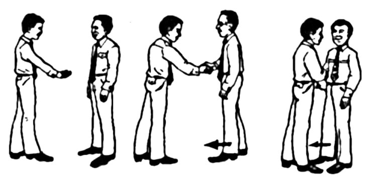 Поведение при рукопожатии