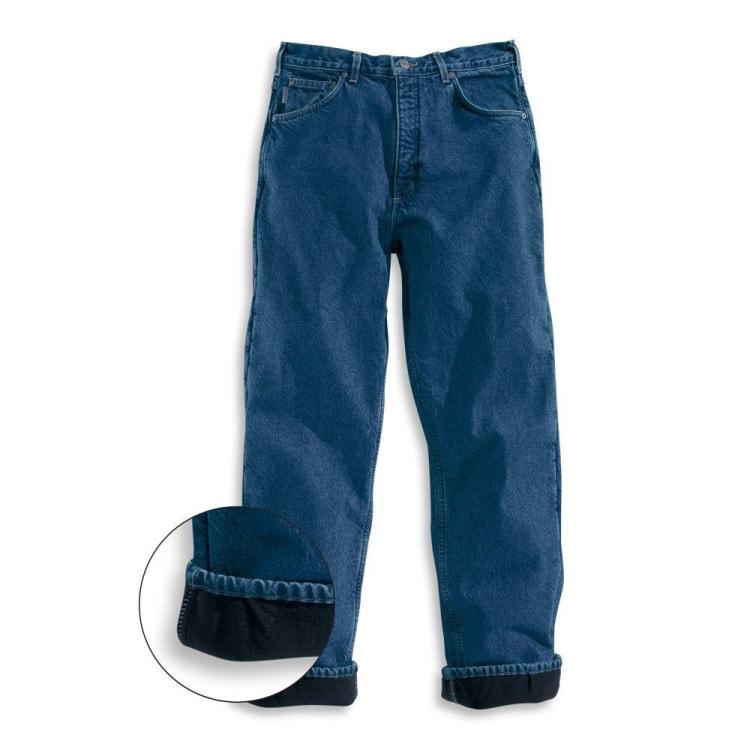 Зиние джинсы с флисовой подкладкой