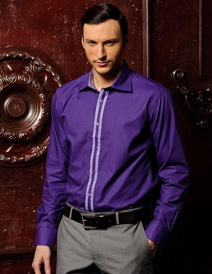 Рубашки темных оттенков помогут выглядят презентабельно и стильно