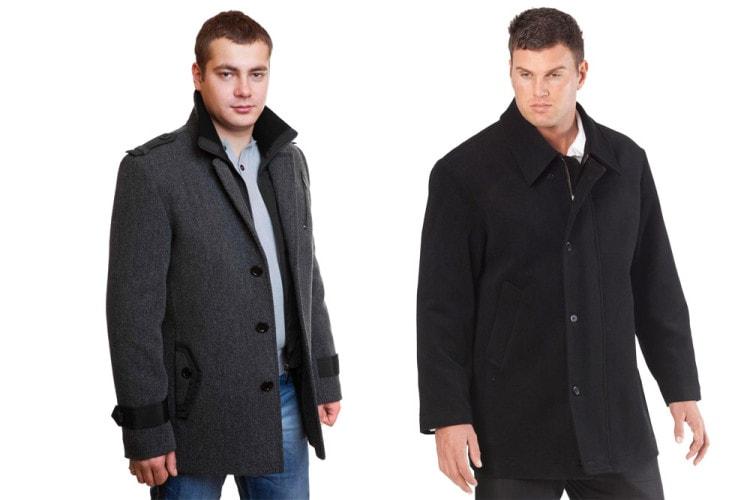 В межсезонье полным мужчинам прекрасно подойдёт классическое пальто из шерсти