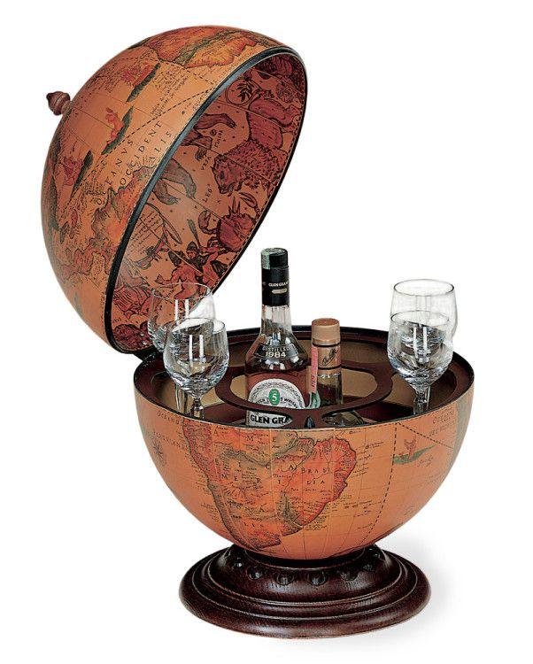 Мини-бар глобус - оригинальный подарок на 23 февраля