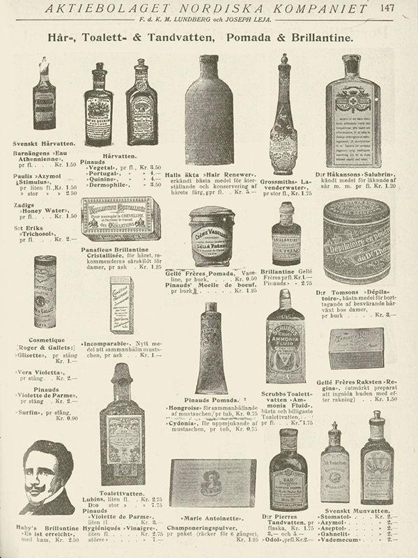Каталог средств для укладки волос 1905-1906