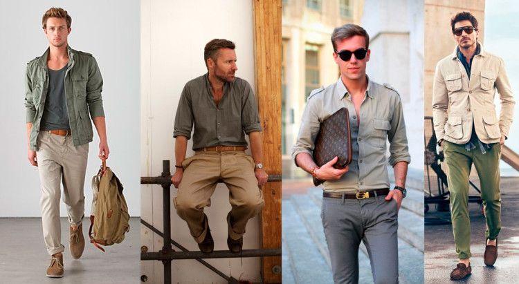 Стиль сафари в мужской моде весна -лето 2016