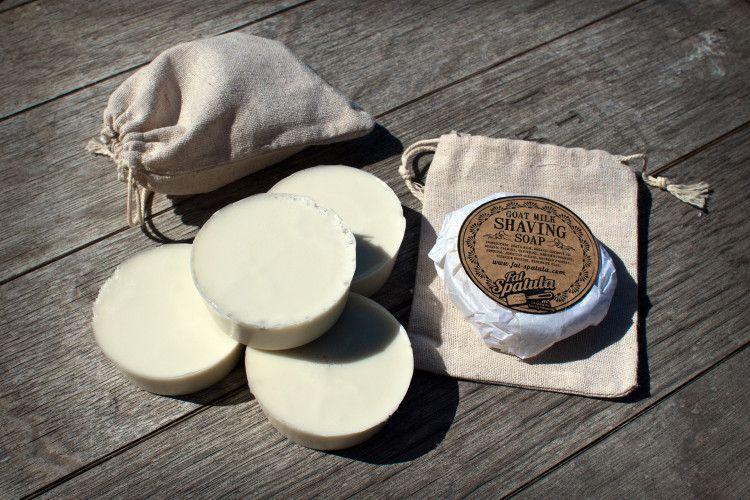Мыло для бритья на основе козьего молока