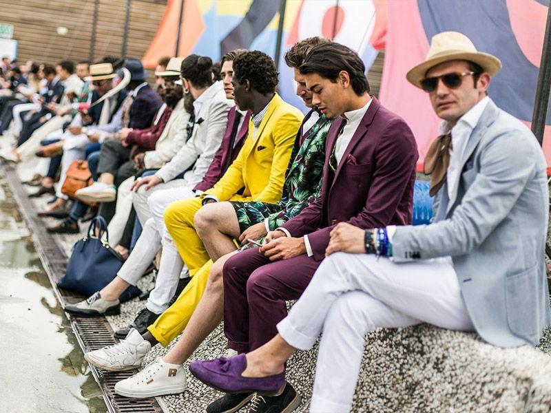 Pitti Uomo 2016 - мужская обувь разных стилей и расцветок