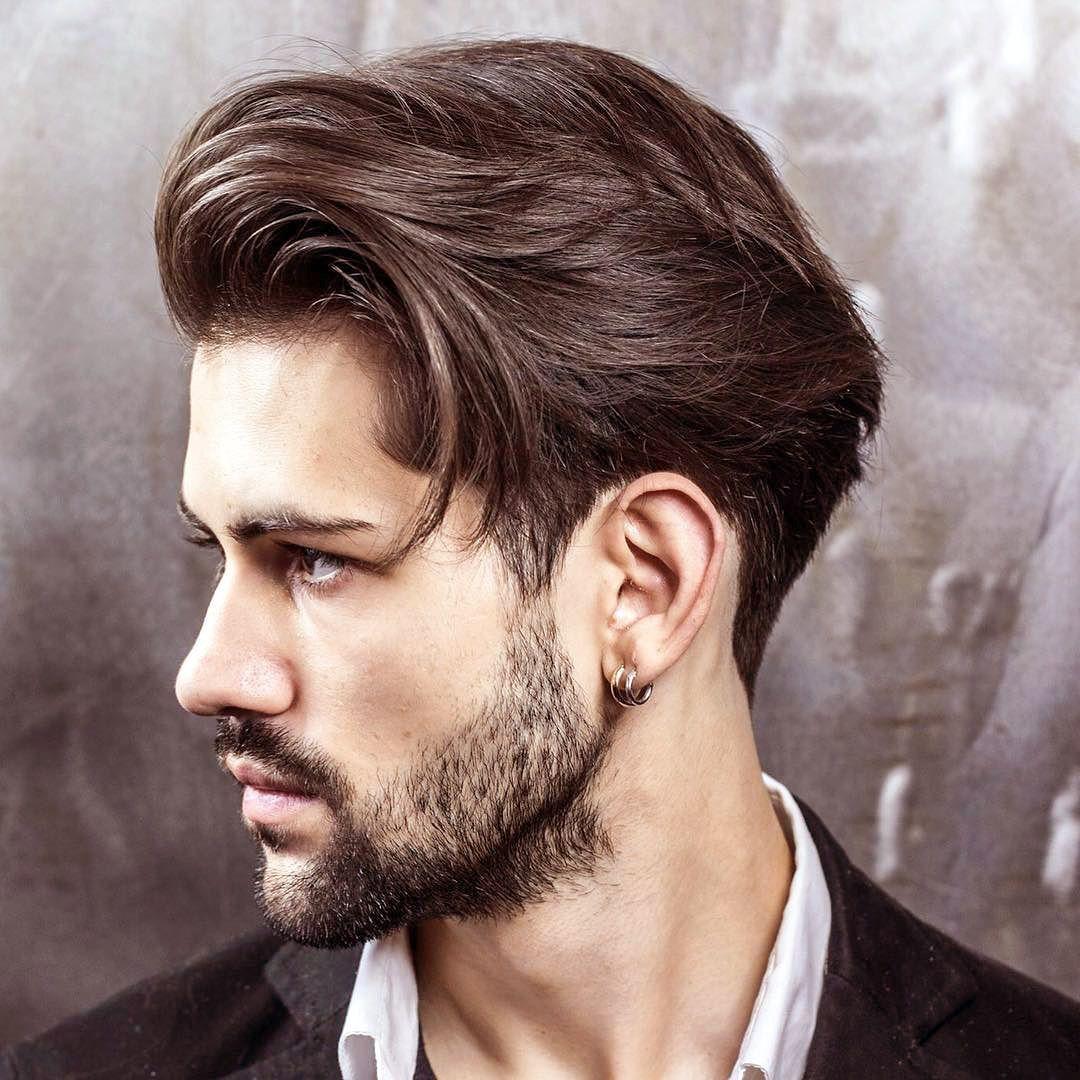 Мужские прически для волос средней длины