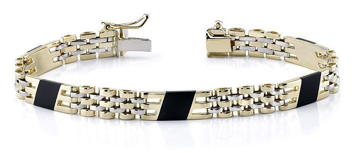 Золотые мужские браслеты из золота производители сочетают с камнями и другими металлами