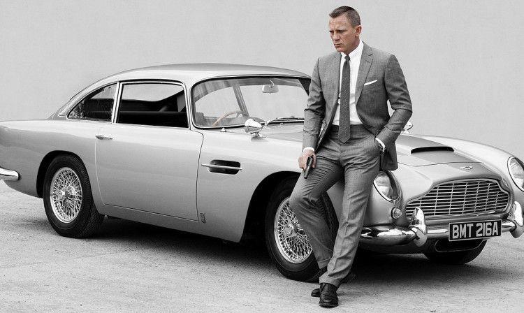 Стиль Джеймса Бонда был бы неполным без достойного авто - Дэниел Крейг и Aston Martin DB5