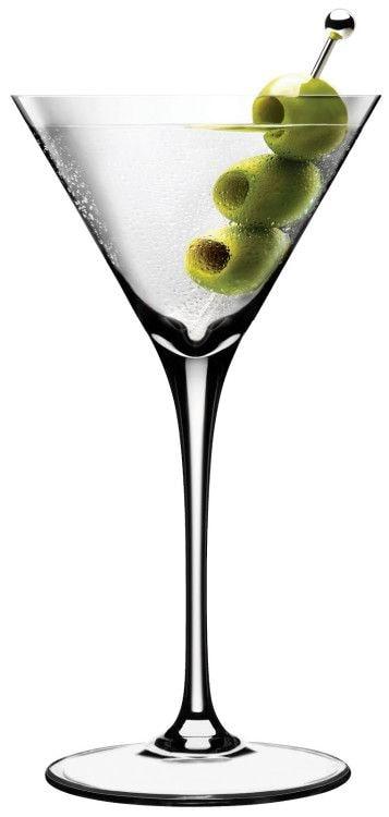 Мартини или коктейли на основе вермута принято наливать в треугольные бокалы