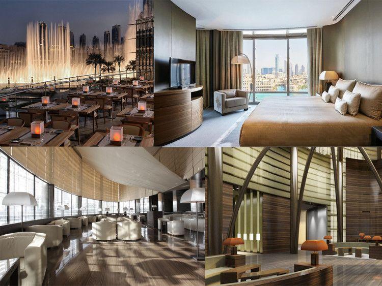 В одновременно роскошном и современном интерьере Armani Hotel Dubai заметен фирменный стиль его создателя
