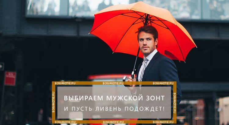 Выбираем мужской зонт - и пусть ливень подождет (миниатюра)