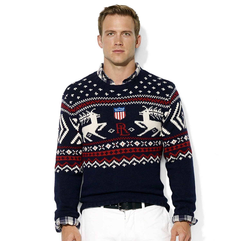 Пуловер с оленями