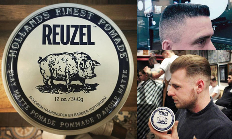 Reuzel Clay идеальна для коротких и средних волос, защищает от пота