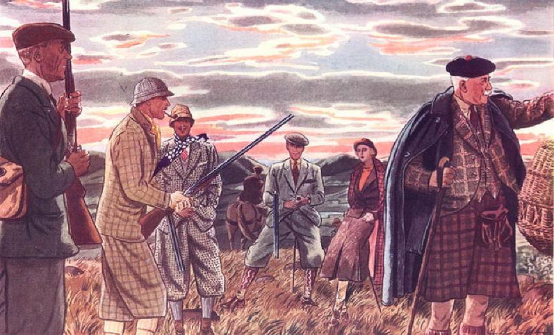 Примерно такими были твидовые костюмы в XIX веке