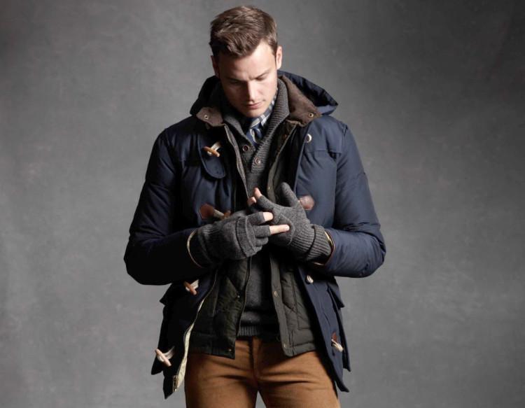 Пример зимней многослойной одежды: куртка + пальто