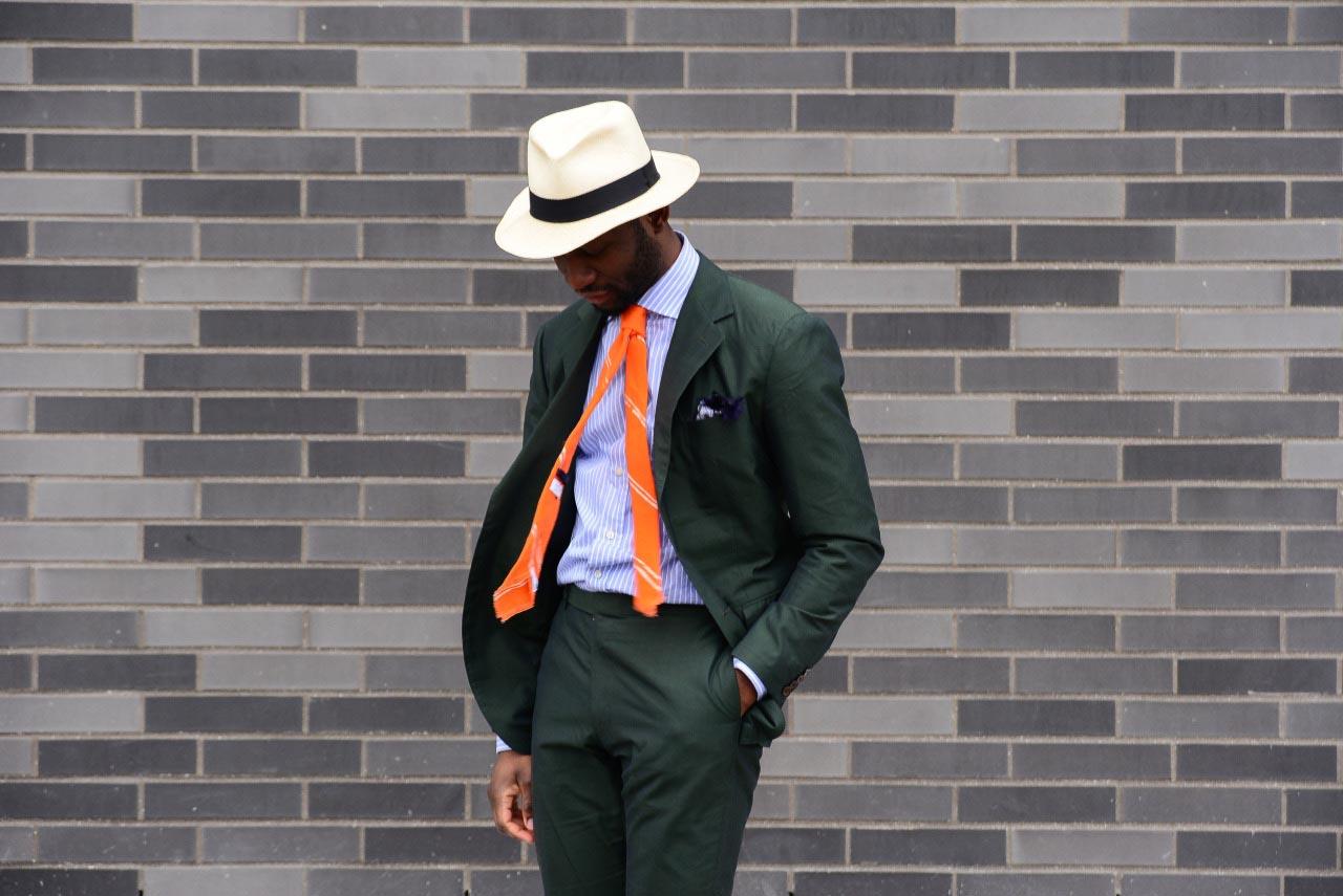При сочетании зеленого и оранжевого ставка на акценты