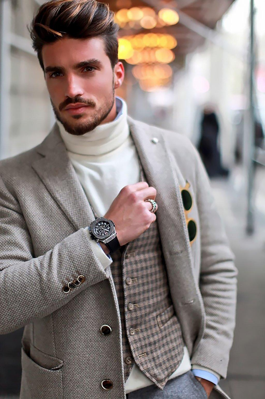 Сочетание водолазка + пиджак гарантирует удоство и элегантность в одном флаконе